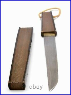 1900's Japanese Lacquer Fan Shaped Conceal Short Sword Tanto Knife