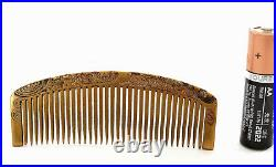 1920's Japanese Makie Lacquer Carved Carving Hair Comb Kushi Kanzashi