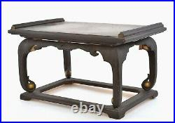 1930's Japanese Makie Lacquer Wood Carved Stand Table Chair Chinese Style AS IS