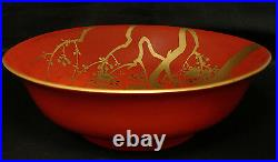 9 7/8 D Japanese Meiji Period Lacquered Wood Bowl