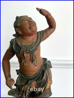 A Japanese Lacquered and Gilt Wood Statue from Edo Period