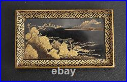 Antique Japanese Lacquer Maki-e Extra Small Chest of Drawers Edo