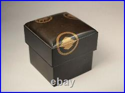 Antique Japanese makie lacquer box with lid