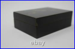 Antique Meiji Japanese Lacquer Box Feathers signed Zohiko