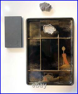 Exceptional Japanese Lacquer Suzuribako Edo Period with Provenance Note