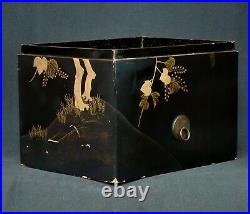 Japan Drum Suzumi Taiko Noh theater 1880s Japanese Musical instrument lacquer
