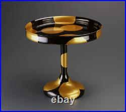 Japanese Antique Lacquer Makie Altar Serving Small Table Cake Tray
