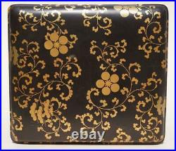 Japanese Black And Gold Lacquer Box, 19th Century