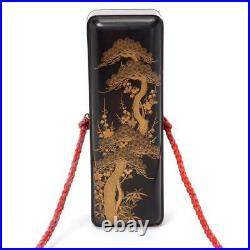 Japanese Gilt Lacquer Scroll Box, 19th Century