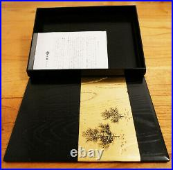 Japanese Jewellery Box Black & Gold Lacquer (From Japan 100% Genuine)
