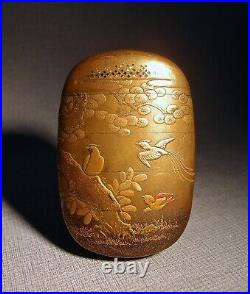 Japanese Meiji Gold Lacquer Inro