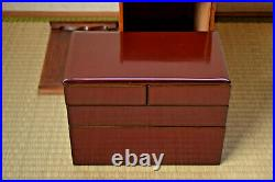 Japanese Mid C20th Urushii/Lacquer Juubako/Lunch Box not/jewellery/coin/chinese