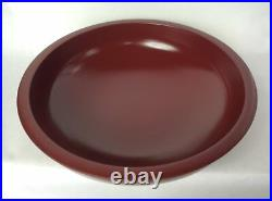 Lacquer Ware Square Bowl Plates 18.0 Soba Kneading Trough Red KZ2177 JAPAN