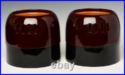 Mid-20th Century, Showa, A Pair of Japanese Keyaki Lacquered Hibachi Vessels