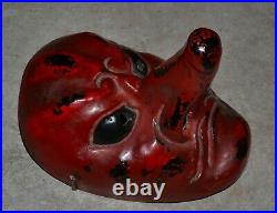 Old or Antique Japanese Negoro Lacquer Theatre Mask
