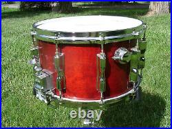 Vintage Tama Superstar Snare Drum 8x14 Cherry Wine Lacquer