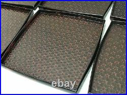Y1501 TRAY Negoro lacquer set of 10 box OBON OZEN Japanese antique Japan