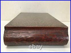 Y2391 STAND Wakasa-lacquer home decor Japanese antique ikebana flower interior